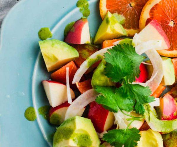 Winter Citrus Apple Salad with Cilantro Vinaigrette